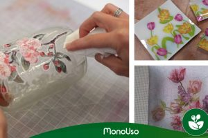 How to decorate glass with paper napkins
