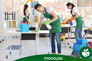 Cleaning products to ensure hygiene in the office